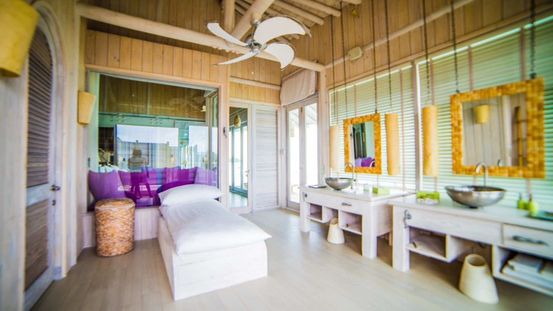 Soneva Jani, Two Bedroom Water Retreat with slide