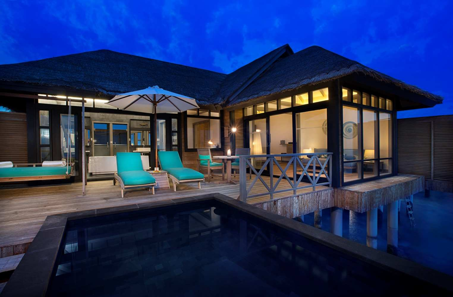 JA Manafaru. Sunset Water Villa with with private infinity pool