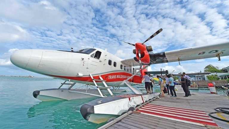 Трансферы на Мальдивах на гидросамолёте TMA